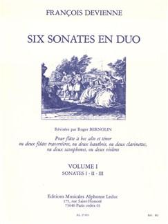 François Devienne: 6 Sonates en Duo Vol.1 (Miscellaneous) Livre | Saxophone