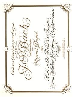 Johann Sebastian Bach - Œuvres complètes pour orgue (édition de Marcel Dupré, vol. 5) Livre | Orgue, Partitions