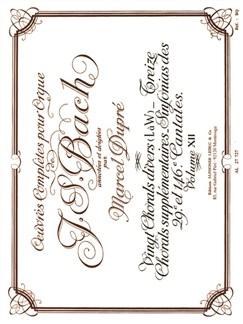 J.S. Bach: Oeuvres Complètes Pour Orgue Volume 12 Books | Organ, Score