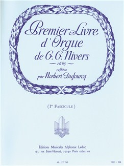 Guillaume Gabriel Nivers: Livre D'Orgue No. 1 Vol. 1 (Organ) Books | Organ