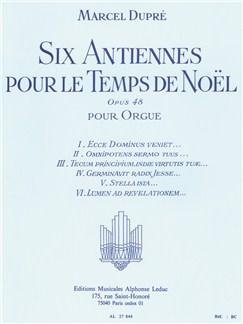 Marcel Dupré: 6 Antiennes pour le Temps de Noël Op.48 (Orgue) Livre | Orgue