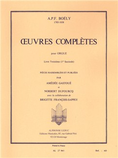 Alexandre Boëly: Complete Works For Organ Vol.1 Books | Organ