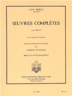 Alexandre Boëly: Complete Works For Organ Vol.2 Books | Organ