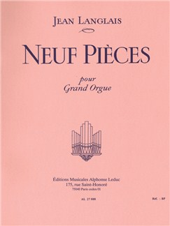 Jean Langlais: Nine Pieces pour Orgue Livre | Orgue