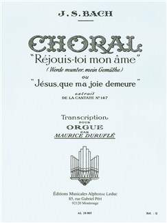 J.S. Bach: 10. Choral Extrait De La Cantate BWV 147 Books | Organ