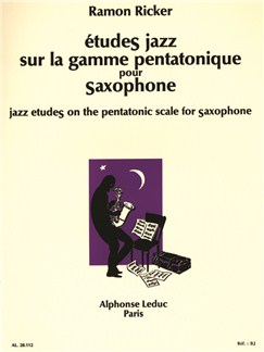 Ramon Ricker: Jazz Studies on the Pentatonic Scale for Saxophone Books | Saxophone