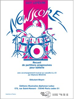 Lefevre: Newscore (pour batterie avec cd) débutant-moyen (le livre) Books   Drums