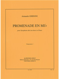 Armando Ghidoni: Promenade in E flat major (Saxophone-Alto & Piano) Books | Alto Saxophone, Piano Accompaniment