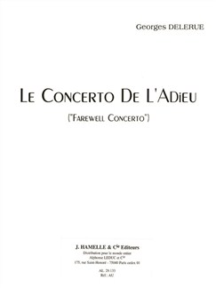 Georges Delerue: Le Concerto De L'Adieu 'Farewell Concerto' (Violin/Piano) Books | Violin, Piano Accompaniment