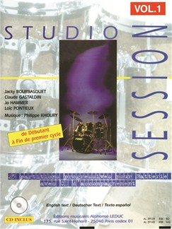 Studio Session Vol.1 (Book/CD) Books | Drums, Percussion