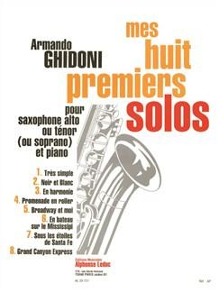 Ghidoni: Mes huit premiers Seules pour saxohone alto et Piano Livre | Saxophone Alto, Accompagnement Piano