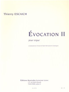 Thierry Escaich: Evocation II Books | Organ
