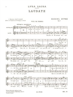Marcel Dupre: Laudate Dominum Op. 9 No.4 (SA Chorus Parts) Livre | Soprano, Alto