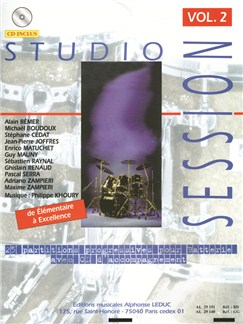 Studio Session Vol.2 (Book/CD) Bog og CD | Slagtøj, Trommer