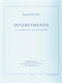 Roger Boutry: Divertimento (Alto Saxophone/Wind Orchestra) (Score/Parts) Books | Alto Saxophone, Wind Ensemble