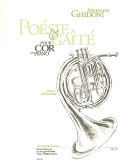 Armando Ghidoni: Poésie Et Gaîté (Horn/Piano) Books | French Horn, Piano Accompaniment