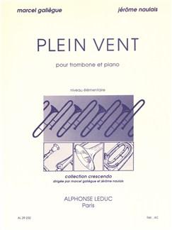 Marcel Galiègue/Jérôme Naulais: Plein Vent (Trombone/Piano) Books | Trombone