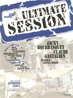 Bourbasquet: Ultimate session 25 partitions progressives avec cd (al 62) Livre | Percussion