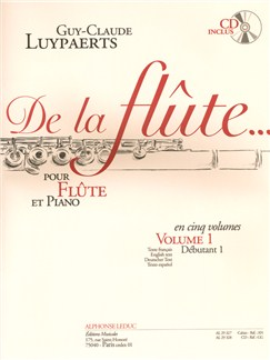 Guy-Claude Luypaerts: De La Flûte Vol.1 (Book/CD) Books and CDs | Flute, Piano Accompaniment