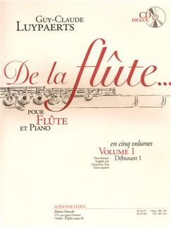 Guy-Claude Luypaerts: De La Flûte Vol.1 (Book/CD) CD y Libro | Flauta, Acompañamiento de Piano