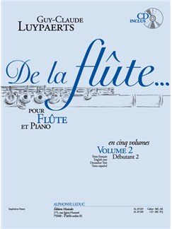 Guy-Claude Luypaerts: De La Flûte Vol.2 (Book/CD) Books and CDs | Flute, Piano Accompaniment