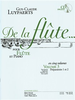 Guy-Claude Luypaerts: De La Flûte Vol.3 (Book/CD) Books | Flute, Piano Accompaniment
