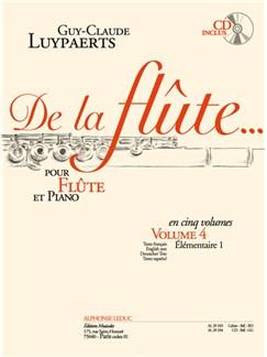 Guy-Claude Luypaerts: De La Flûte Vol.4 (Book/CD) Books | Flute, Piano Accompaniment