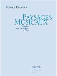 Frances: Paysages Musicaux Chant (Voix Moyenne) Et Piano Books | Voice
