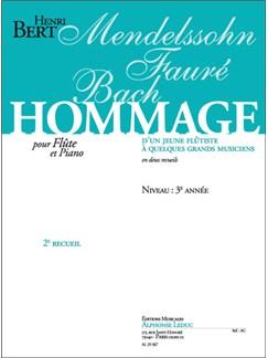 Henri Bert: Hommage d'un jeune Flûtiste Vol.2 (Flute & Piano) Books | Flute