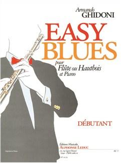 Ghidoni: Easy blues pour Flûte ou hautbois et Piano Livre | Flûte Traversière