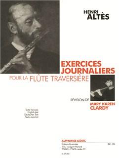Henri Altés: Exercices Journaliers Pour La Flûte Traversière (Clardy) Books | Flute