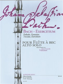 Bach, J.S.: Exercises arranged from Bach's Preludes, Fantasies and Toccatas for Alto Recorder Books | Alto (Treble) Recorder