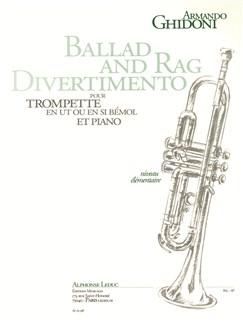Armando Ghidoni: Ballad And Rag Divertimento (Trumpet/Piano) Books | Trumpet, Piano Accompaniment