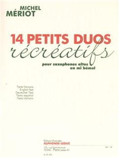 Michel Mériot: 14 Petits Duos récréatifs (Saxophones 2) Books |