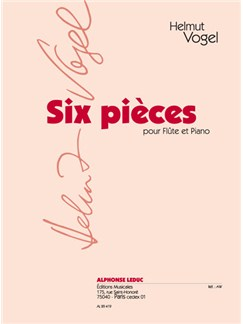 Helmut Vogel: 6 Pièces (Flute & Piano) Buch | Querflöte