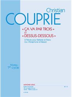 Christian Couprie: Ca va par trois & Dessus-dessous (Percussion(s) & Piano) Books | Percussion