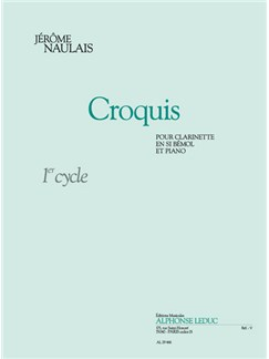 Jérôme Naulais: Croquis (Clarinet/Piano) Books | Clarinet, Piano Accompaniment