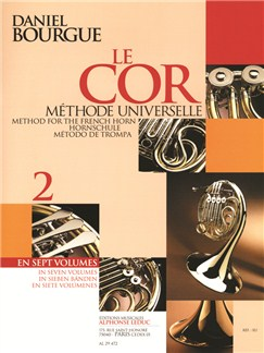 Daniel Bourgue: Le Cor Méthode Universelle Vol.2 (Horn) Books | French Horn