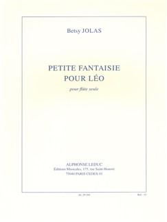 Betsy Jolas: Petite Fantaisie Pour Léo (Flute) Libro | Flauta
