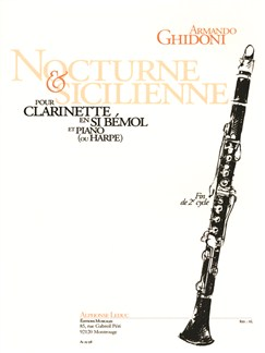 Armando Ghidoni: Nocturne And Sicilienne For Clarinet And Piano Books | Clarinet, Piano Accompaniment