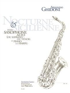 Ghidoni: Nocturne & sicilienne (fin cycle 2) saxophone alto ou soprano ou tenor Livre | Saxophone Alto, Saxophone Tenor, Saxophone