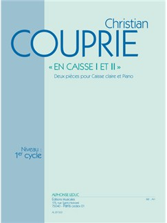 Couprie: En Caisse I Et Ii (Cycle 1) Deux Pièces Pour Caisse Claire Et Piano Books | Percussion