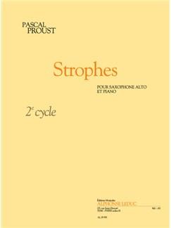 Pascal Proust: Strophes (Alto Saxophone/Piano) Books | Alto Saxophone, Piano Accompaniment