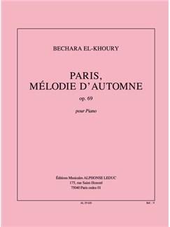 El-Khoury: Paris, Mélodie D'automne, Op. 69 Pour Piano 2 Mains Books | Piano