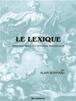 Alain Bonnard: Le Lexique Livre |
