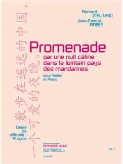 Bernard & Jean-Pascal Zielinski B.& Rabié: Promenade pour une Nuit câline... (Violin & Piano) Books | Violin