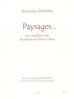 Ghidoni: Paysages Alto (Sop Or Ten) Sax & Piano Livre | Saxophone Alto, Saxophone Tenor, Saxophone