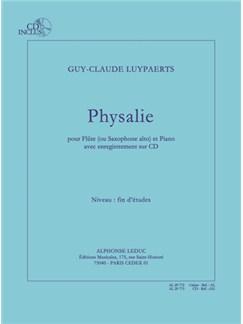 Luypaerts: Physalie (fin d'études) pour flûte (ou saxophone alto) et piano avec cd : le cahier Books | Flute