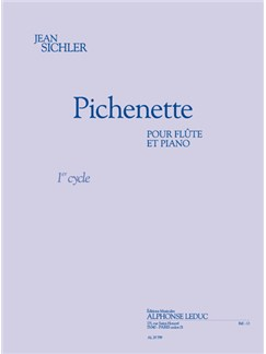 Jean Sichler: Pichnette (Flute/Piano) Libro | Flauta, Acompañamiento de Piano