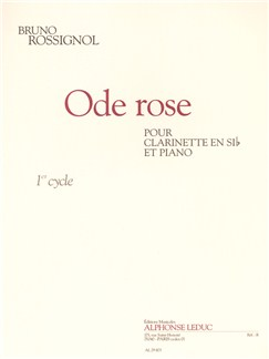 Rossignol: Ode Rose (2'15'') (Cycle 1) Pour Clarinette Si B Et Piano Books | Clarinet